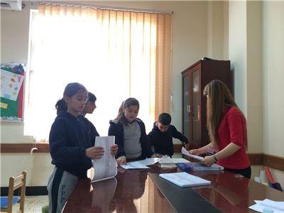 Prefects Help in Preparing Certificates (Soran I.S)
